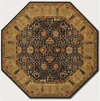 Couristan Royal Kashimar Cypress Garden Rectangular Black & Deep Maple Area Rug