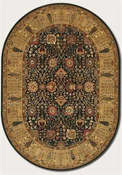 Couristan Royal Kashimar Cypress Garden Oval Black & Deep Maple Area Rug