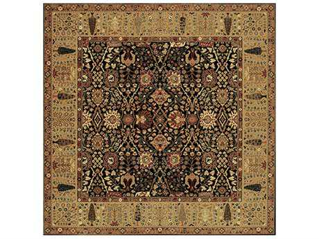 Couristan Royal Kashimar Square Black Area Rug