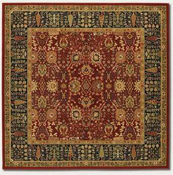 Couristan Royal Kashimar Cypress Garden Square Persian Red Area Rug