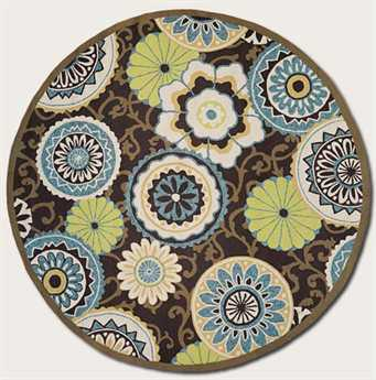 Couristan Covington Stella Round Chocolate Area Rug