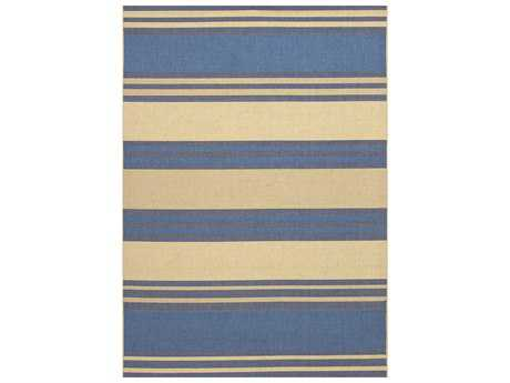 Couristan Five Seasons South Padre Rectangular Blue & Cream Area Rug