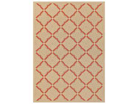 Couristan Five Seasons Sorrento Rectangular Cream & Terra Cotta Area Rug