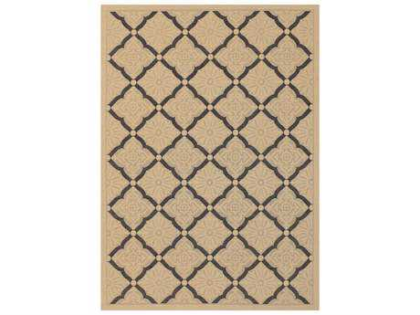 Couristan Five Seasons Sorrento Rectangular Cream & Black Area Rug