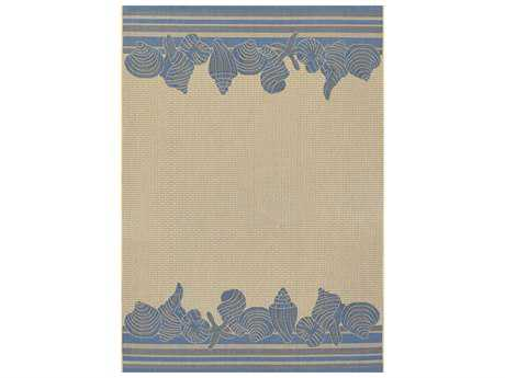 Couristan Five Seasons Shoreline Rectangular Cream & Blue Area Rug