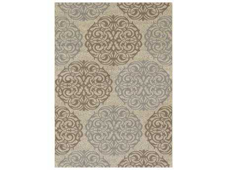 Couristan Five Seasons Montecito Rectangular Cream & Sky Blue Area Rug