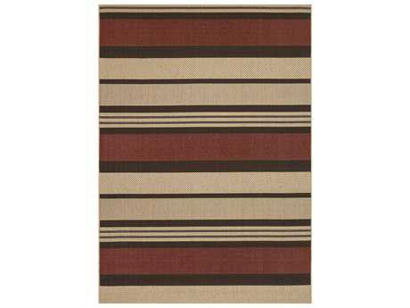 Couristan Five Seasons Santa Barbara Rectangular Red & Natural Area Rug