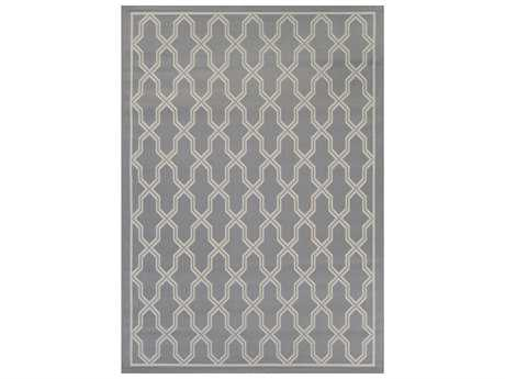 Couristan Five Seasons Crystal Coast Rectangular Grey & Cream Area Rug
