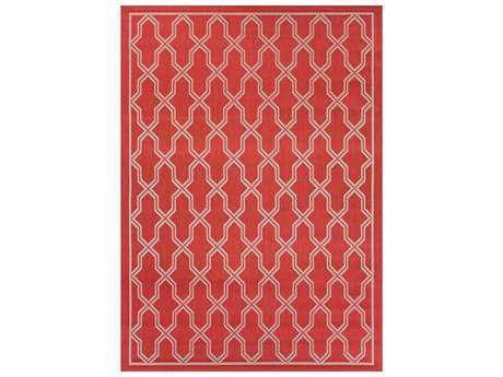 Couristan Five Seasons Crystal Coast Rectangular Red & Cream Area Rug