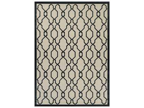 Couristan Five Seasons Byron Bay Rectangular Cream & Black Area Rug