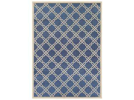 Couristan Five Seasons Sun Island Rectangular Blue & Cream Area Rug
