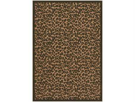 Couristan Urbane Captivity Rectangular Tan & Brown Area Rug