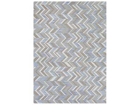 Couristan Tides Shelter Island Rectangular Blue & Grey Area Rug