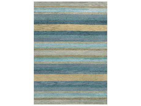 Couristan Oasis Caribbean Rectangular Vista Sky Blue Area Rug