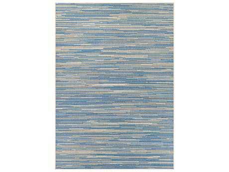 Couristan Monaco Alassio Rectangular Sand & Azure & Turquoise Area Rug