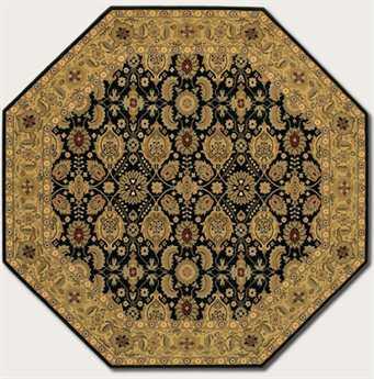 Couristan Royal Kashimar Octagon Black Area Rug