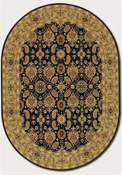 Couristan Royal Kashimar Oval Black Area Rug