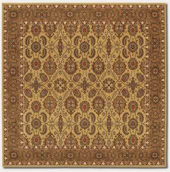 Couristan Royal Kashimar Square Hazelnut Area Rug