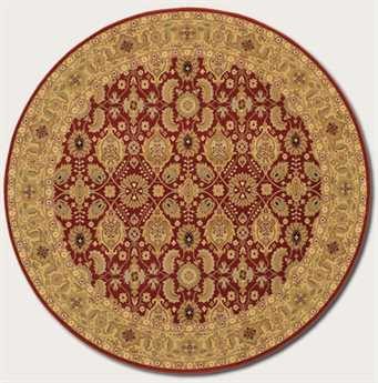 Couristan Royal Kashimar Round Persian Red Area Rug