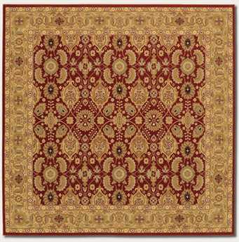 Couristan Royal Kashimar Square Persian Red Area Rug