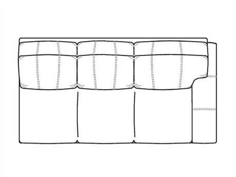 Classic Leather Easton Right Arm Facing Sofa
