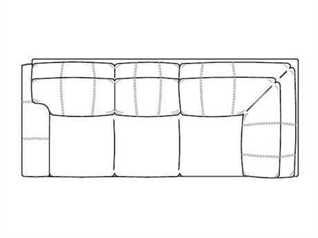 Classic Leather Easton Left Arm Facing Corner Sofa