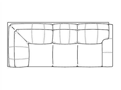 Classic Leather Easton Right Arm Facing Corner Sofa