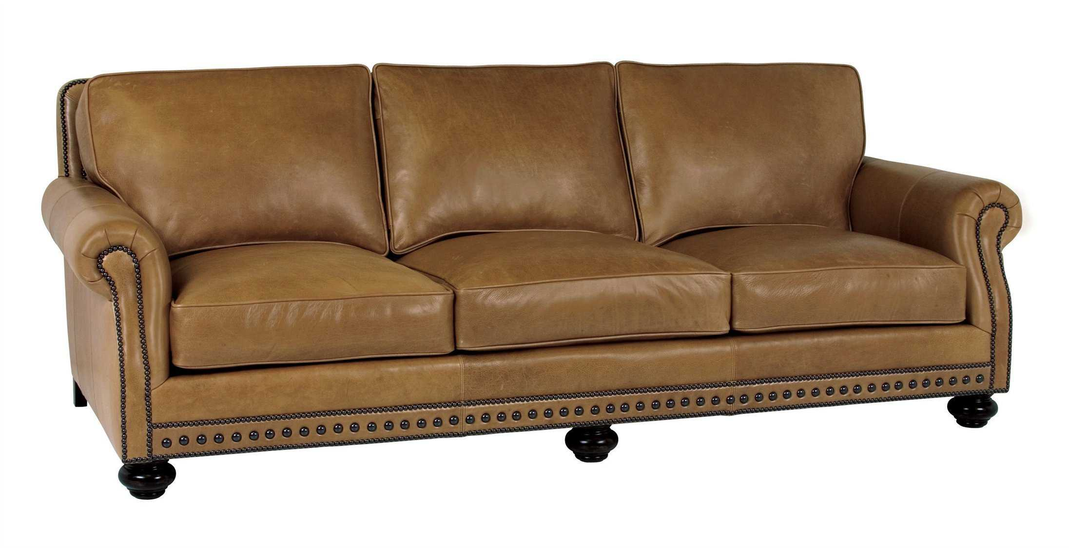 Classic leather riverside sofa cl3253 for Traditional leather sofa bed