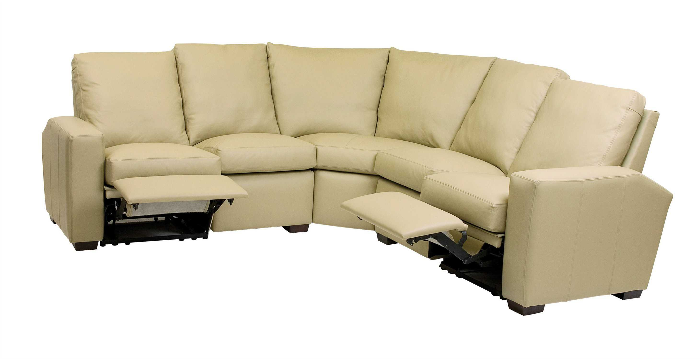 Classic leather metro reclining sectional sofa cl34421 for Sectional sofas with 4 recliners