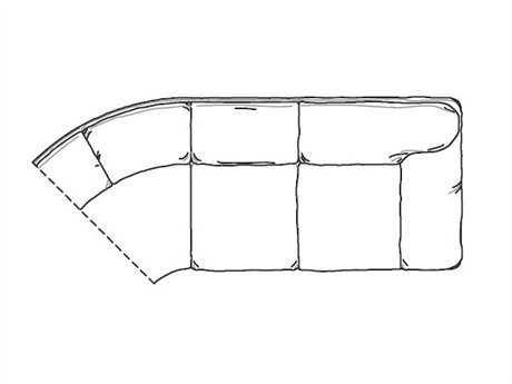 Classic Leather Oregon Right Arm Facing Sofa Half Round