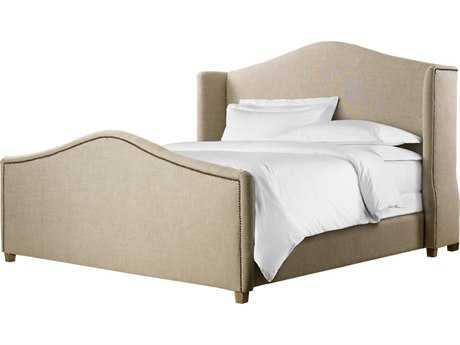 Curations Limited Athena Weathered Natural Ash / Beige Linen King Bed