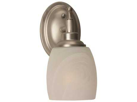 Craftmade Jeremiah Legion Wall Sconce in Brushed Satin Nickel with Alabaster Swirl Glass