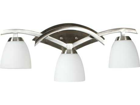 Craftmade Jeremiah View Point Three-Light Vanity Light in Brushed Satin Nickel with Cased Frost White Glass