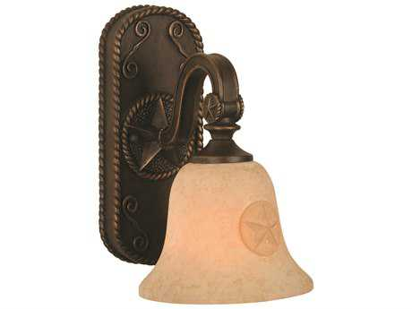 Craftmade Jeremiah Chaparral Wall Sconce in Antique Bronze with Antique Scavo Glass