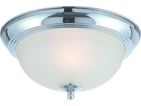 Craftmade Jeremiah Flushmount Light in Chrome with Frosted Glass