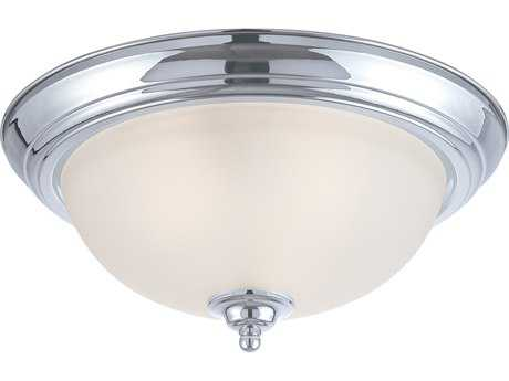 Craftmade Jeremiah Three-Light Flushmount Light in Chrome with Frosted Glass