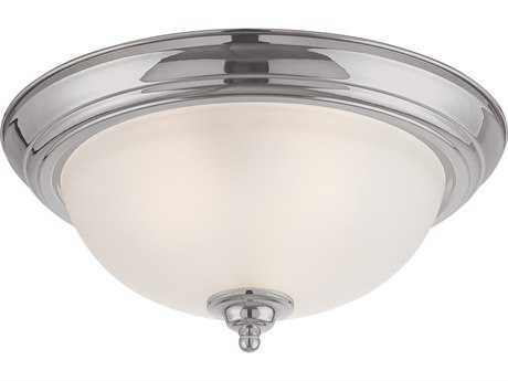 Craftmade Jeremiah Three-Light Flushmount Light in Satin Nickel with Faux Alabaster Glass
