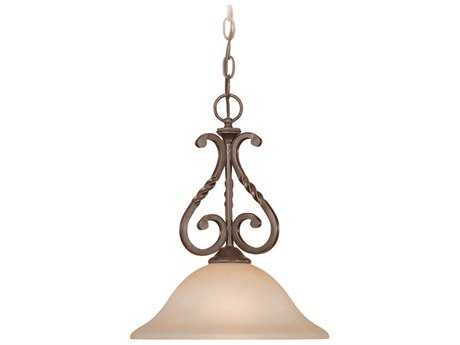 Craftmade Jeremiah Sutherland Mini-Pendant in English Toffee with Light Umber Etched Glass