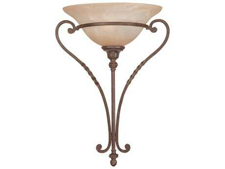 Craftmade Jeremiah Sutherland Wall Sconce in English Toffee with Light Umber Etched Glass