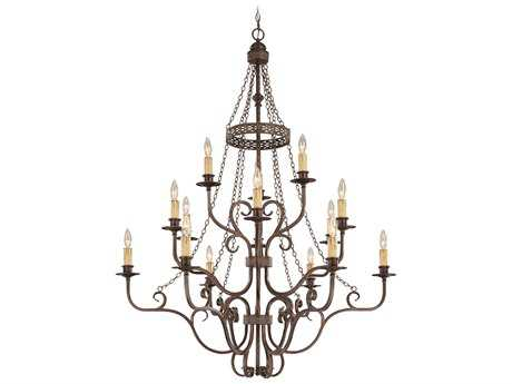 Craftmade Jeremiah Brookshire Manor 15-Light Grand Chandelier in Burnished Armor
