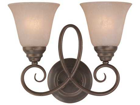Craftmade Jeremiah Cordova Two-Light Wall Sconce in Oiled Bronze with Warm Faux Alabaster Glass