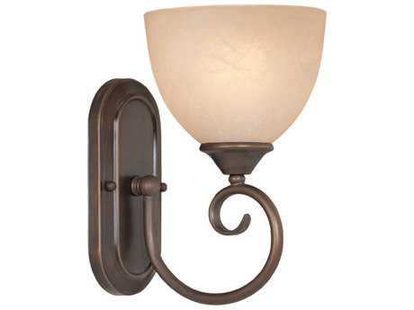 Craftmade Jeremiah Raleigh Wall Sconce in Oiled Bronze with Warm Faux Alabaster Glass