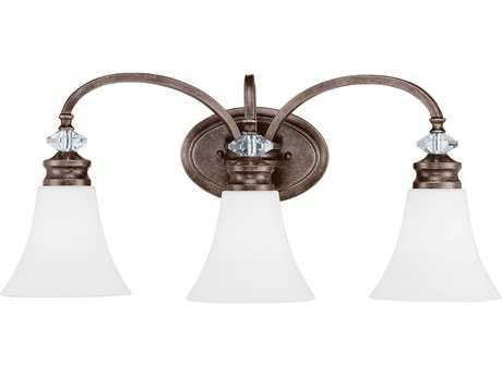 Craftmade Jeremiah Boulevard Mocha Bronze Three-Light 24.5'' Wide Vanity Light with Silver Accents