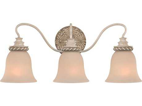 Craftmade Jeremiah Zoe Three-Light Vanity Light in Antique Linen with Frosted Glass