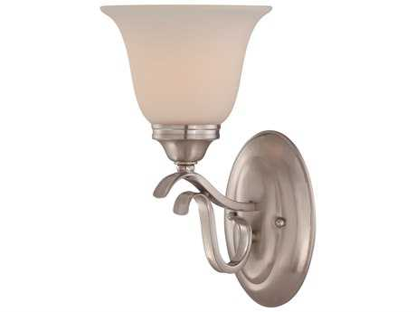 Craftmade Jeremiah McKinney Wall Sconce in Brushed Polished Nickel with Frosted White Glass
