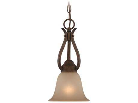 Craftmade Jeremiah McKinney Mini-Pendant in Burleson Bronze with Salted Caramel Glass