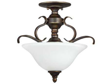 Craftmade Jeremiah Mckinney Burleson Bronze Three-Light 17.14'' Wide Semi-Flush Mount Ceiling Light