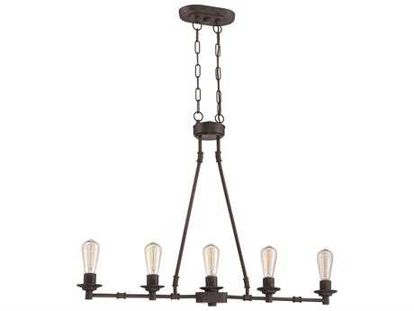 Craftmade Jeremiah Hadley Five-Light Island Light in Aged Bronze