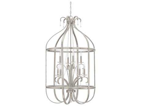 Craftmade Jeremiah Andrianna Eight-Light Foyer Grand Chandelier in Brushed Nickel
