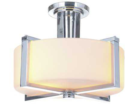 Craftmade Jeremiah Albany Chrome Three-Light 15.5'' Wide Semi-Flush Mount Ceiling Light